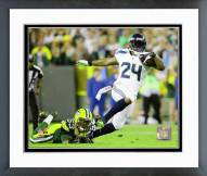 Seattle Seahawks Marshawn Lynch 2015 Action Framed Photo