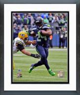 Seattle Seahawks Marshawn Lynch NFC Championship Game Action Framed Photo