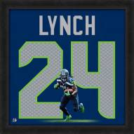 Seattle Seahawks Marshawn Lynch Uniframe Framed Jersey Photo