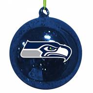 Seattle Seahawks Mercury Glass Ornament