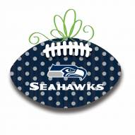 Seattle Seahawks Metal Football Door Decor