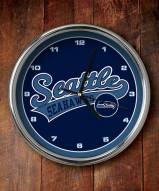 Seattle Seahawks NFL Chrome Wall Clock