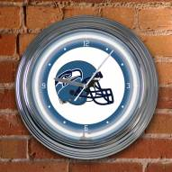 Seattle Seahawks NFL Neon Wall Clock