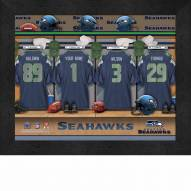 Seattle Seahawks NFL Personalized Locker Room 11 x 14 Framed Photograph