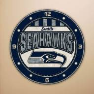 Seattle Seahawks NFL Stained Glass Wall Clock