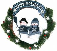 Seattle Seahawks NFL Team Snowmen Christmas Wreath