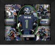 Seattle Seahawks Personalized Framed Action Collage