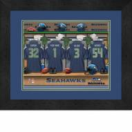 Seattle Seahawks Personalized Locker Room 13 x 16 Framed Photograph