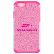 Seattle Seahawks Pink Pebble Grain iPhone 6/6s Plus Case