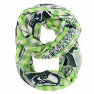 Seattle Seahawks Plaid Sheer Infinity Scarf