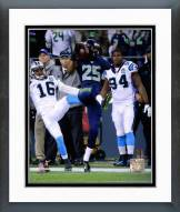 Seattle Seahawks Richard Sherman Interception 2014 Playoff Action Framed Photo
