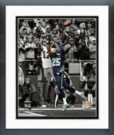 Seattle Seahawks Richard Sherman Interception Spotlight Framed Photo