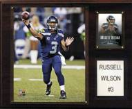 "Seattle Seahawks Russell Wilson 12 x 15"" Player Plaque"