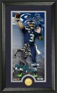 Seattle Seahawks Russell Wilson Bronze Coin Panoramic Photo Mint