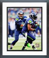 Seattle Seahawks Russell Wilson & Marshawn Lynch 2014 Action Framed Photo