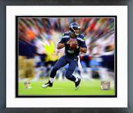 Seattle Seahawks Russell Wilson Motion Blast Framed Photo
