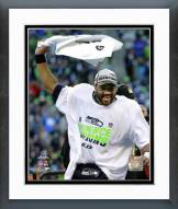 Seattle Seahawks Russell Wilson NFC Championship Game 2014 Playoffs Framed Photo