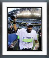 Seattle Seahawks Russell Wilson NFC Championship Trophy Framed Photo