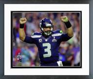 Seattle Seahawks Russell Wilson Super Bowl XLIX Action Framed Photo
