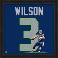 Seattle Seahawks Russell Wilson Uniframe Framed Jersey Photo