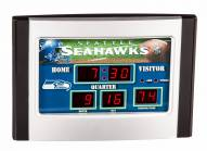 Seattle Seahawks Scoreboard Desk Clock