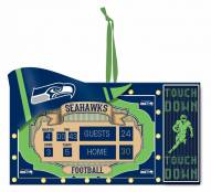 Seattle Seahawks Scoreboard Tree Ornament