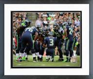 Seattle Seahawks Seattle Seahawks Huddle 2014 Framed Photo