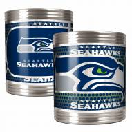 Seattle Seahawks Stainless Steel Hi-Def Coozie Set