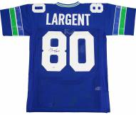 Seattle Seahawks Steve Largent Signed Throwback Mitchell & Ness Jersey