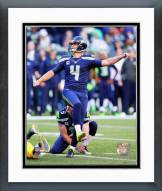 Seattle Seahawks Steven Hauschka 2014 Action Framed Photo