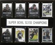 "Seattle Seahawks 12"" x 15"" Super Bowl XLVIII 8 Card Plaque"