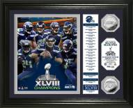 """Seattle Seahawks Super Bowl XLVIII Champions """"Banner"""" Gold Coin Photo Mint"""