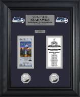 Seattle Seahawks Super Bowl XLVIII Champions Ticket & Game Coin Collectible