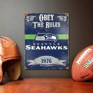 Seattle Seahawks Vintage Metal Sign