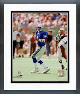 Seattle Seahawks Warren Moon Action Framed Photo
