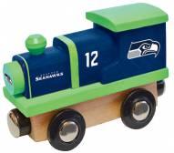 Seattle Seahawks Wooden Toy Train