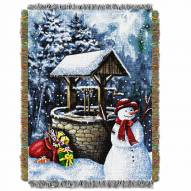 Snowman Wishing Well Throw Blanket