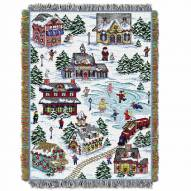 Snowy Village Throw Blanket