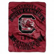 South Carolina Gamecocks Rebel Raschel Throw Blanket