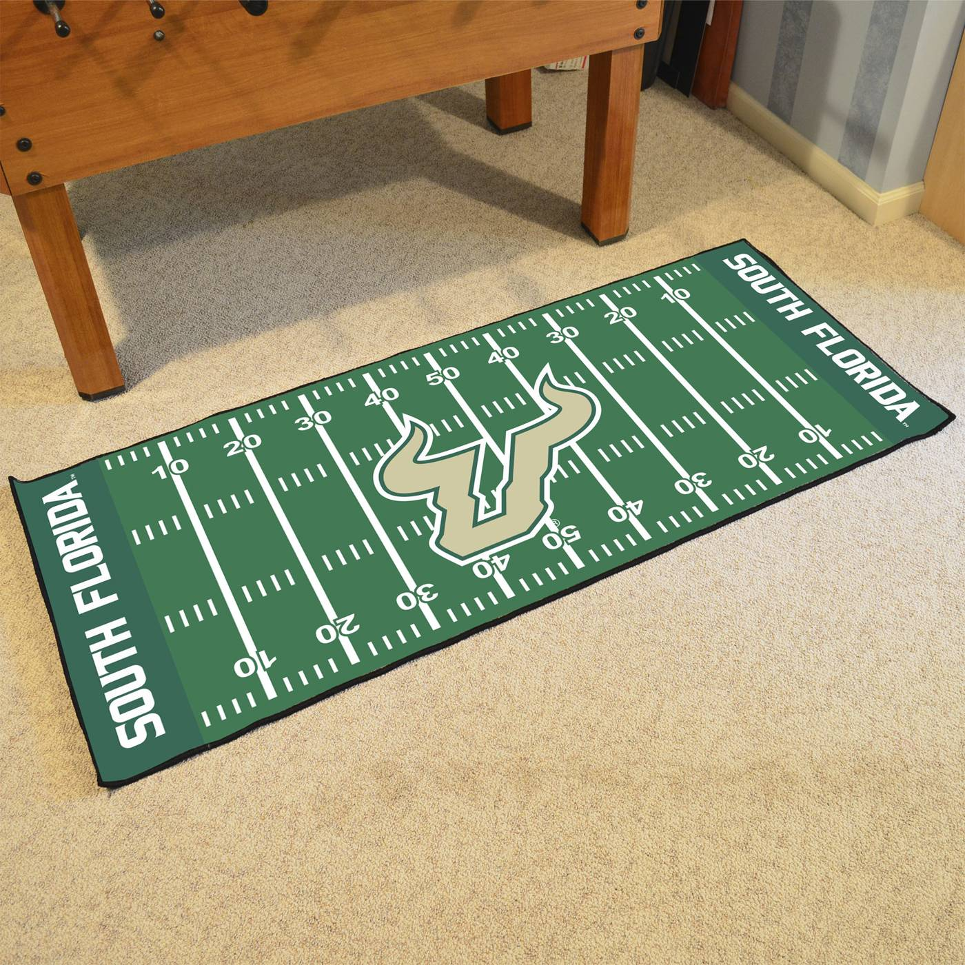 Nebraska Cornhuskers Blackshirts Football Field Runner Rug: South Florida Bulls Football Field Runner Rug