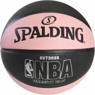 Spalding NBA Varsity Outdoor Basketball - Black / Pink (28.5)