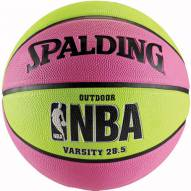 Spalding NBA Varsity Basketball - Pink / Green (28.5)