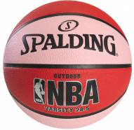 Spalding NBA Varsity Outdoor Basketball - Red / Pink (28.5)