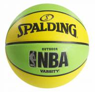 Spalding NBA Varsity Neon Outdoor Basketball - Green/Yellow (29.5)
