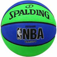 Spalding NBA Varsity Outdoor Basketball - Blue/Green (29.5)