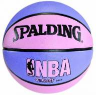 Spalding NBA Street Outdoor Basketball (28.5) - Pink/Purple