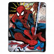 Spiderman Origins Micro Raschel Throw Blanket