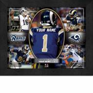 Los Angeles Rams Personalized Framed Action Collage