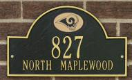St. Louis Rams NFL Personalized Address Plaque - Black Gold