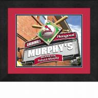 St. Louis Cardinals 13 x 16 Personalized Framed Sports Pub Print